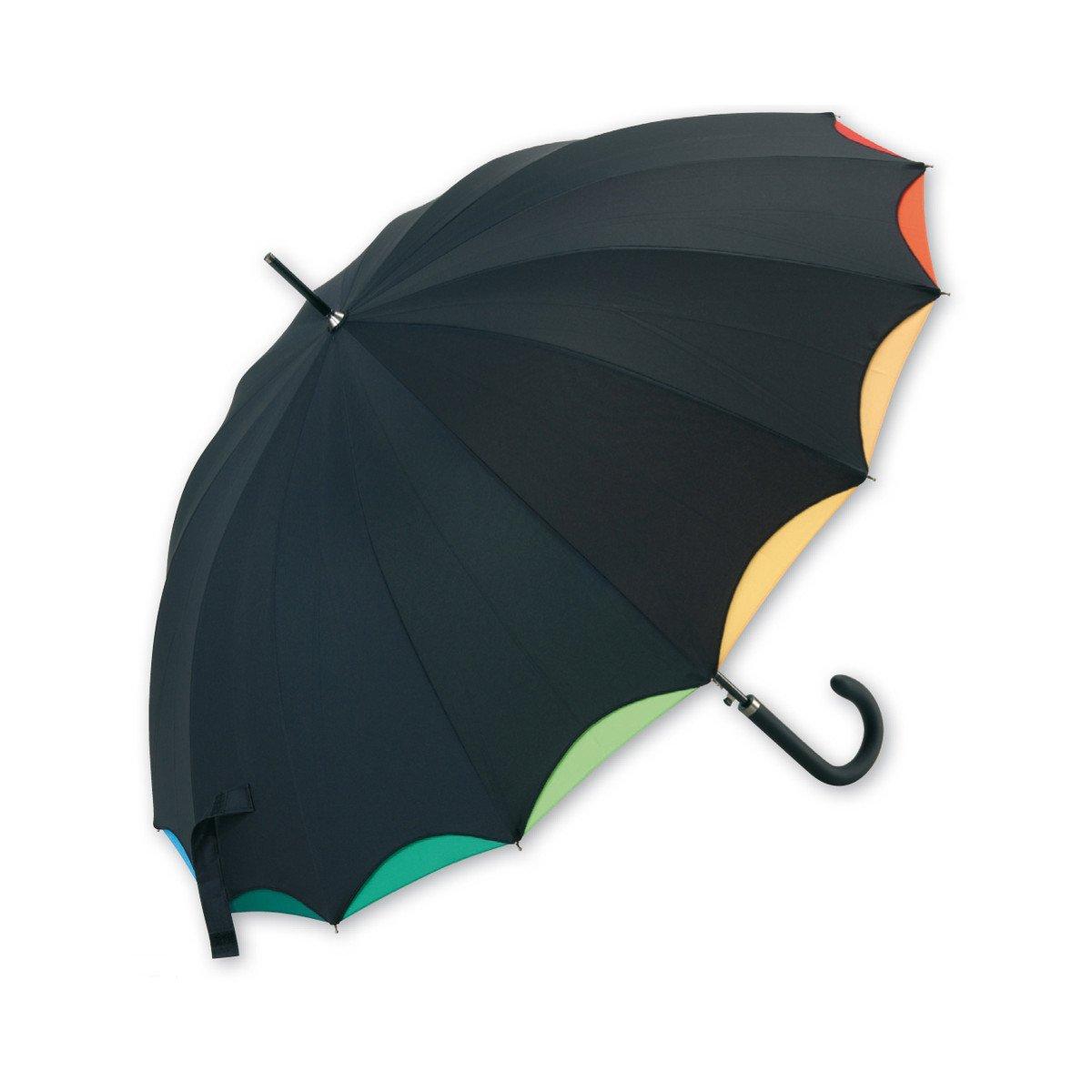 Paraguas doble tela arco iris paraguas cuatro gotas - Tela de paraguas ...