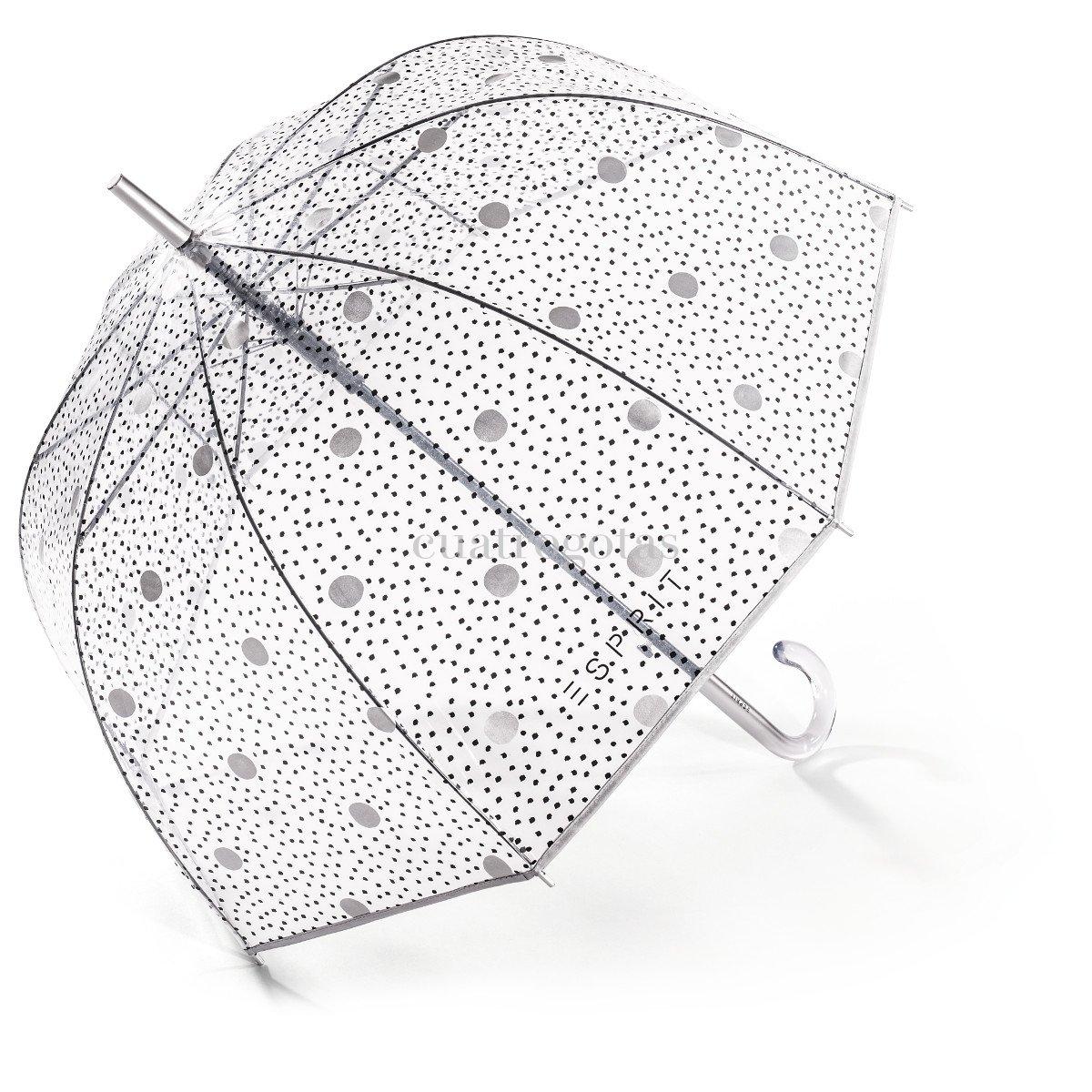 Cat logo paraguas doble tela paraguas cuatrogotas - Tela de paraguas ...